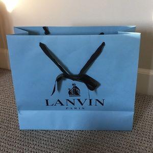 "Lanvin Large Shopping Bag 14"" x 16.5"" x 6"""